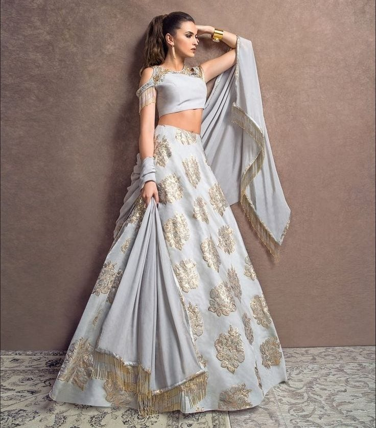 White-1 20 Latest Bridal Lehenga Designs And Styles To Try This Year
