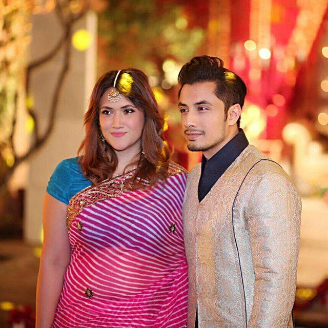 ali-zafar-with-wife Ali Zafar Pictures - 20 Most Stylish Pictures of Ali Zafar