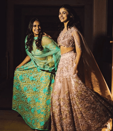 bridesmaid-lehenga-choli Latest Bridesmaid Lehenga Designs-25 New Styles To Try In 2019