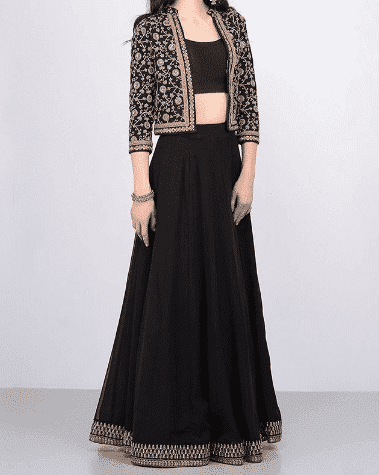 bridesmaid-lehenga-with-jacket Latest Bridesmaid Lehenga Designs-25 New Styles To Try In 2019