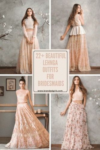 bridesmaids-lehnga-outfits-333x500 Latest Bridesmaid Lehenga Designs-25 New Styles To Try In 2019
