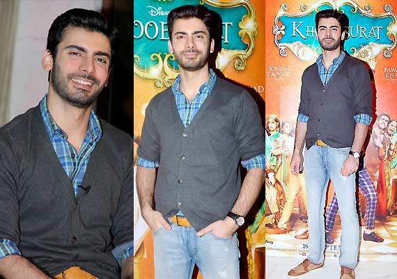 fawad-khan-khoobsurat-promotion Fawad Khan Dressing Styles-27 Best Outfits of Fawad Khan to Copy