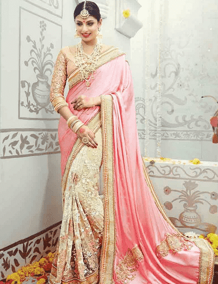 south-asian-saree-designs-1 23 Latest South Indian Wedding Sarees To Try This Year