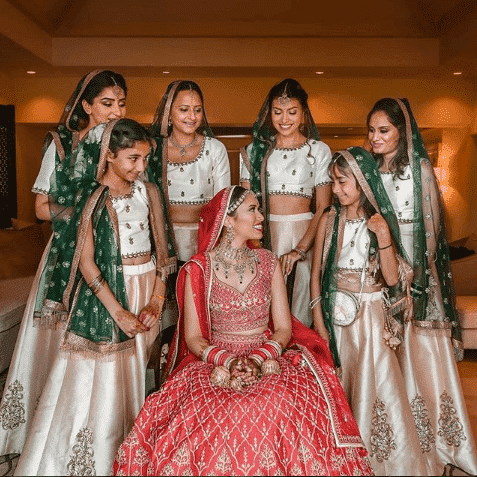 white-bridesmaid-lehenga Latest Bridesmaid Lehenga Designs-25 New Styles To Try In 2019