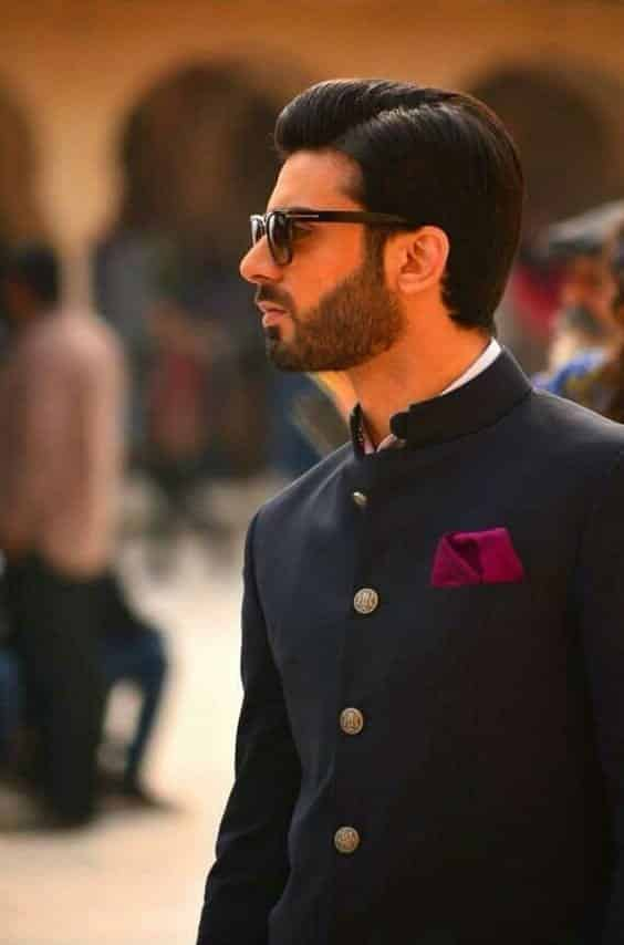 with-a-cultural-outfit Fawad Khan Hairstyles-18 Top Haircuts of Fawad Khan of all time