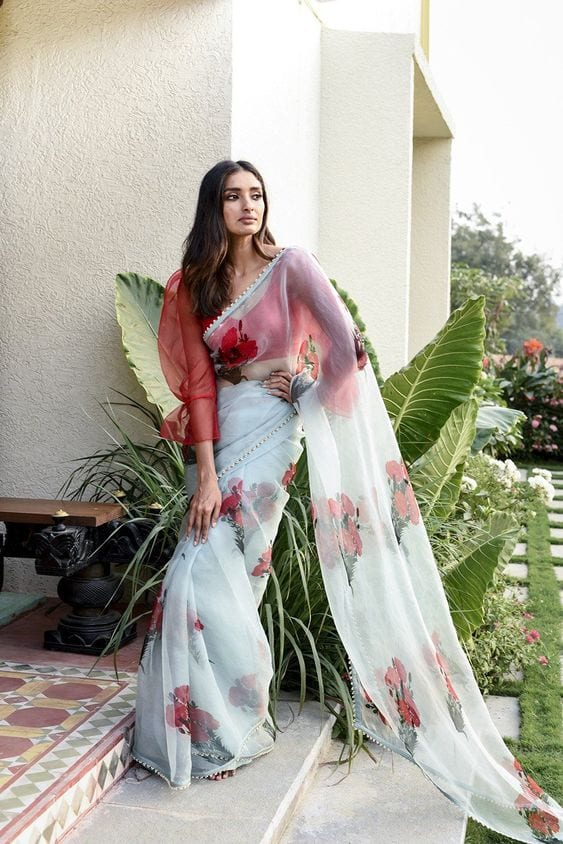 Chaffoon-Saree Latest Bridesmaid Saree Designs-20 New Styles to try in 2019