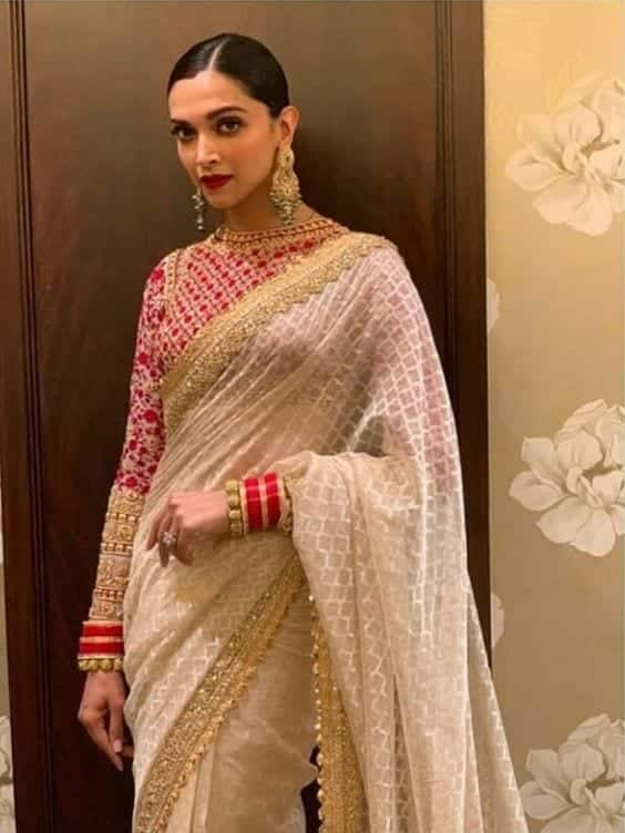 Deepika Latest Bridesmaid Saree Designs-20 New Styles to try in 2019