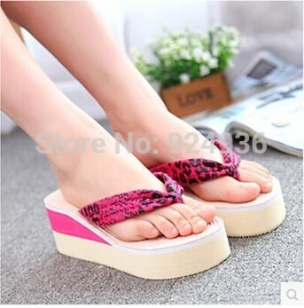 Free-Shipping-2016-Fashion-Platform-Flip-Flops-Shoes-Women-Wedges-Sandals-High-Heel-Beach-Slippers-Wear Funky Slippers For Girls-These 30 Coolest Slippers you Must Try