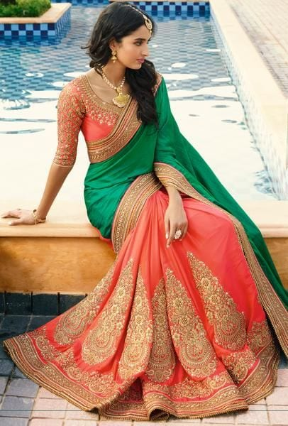 Pink-Saree Latest Bridesmaid Saree Designs-20 New Styles to try in 2019