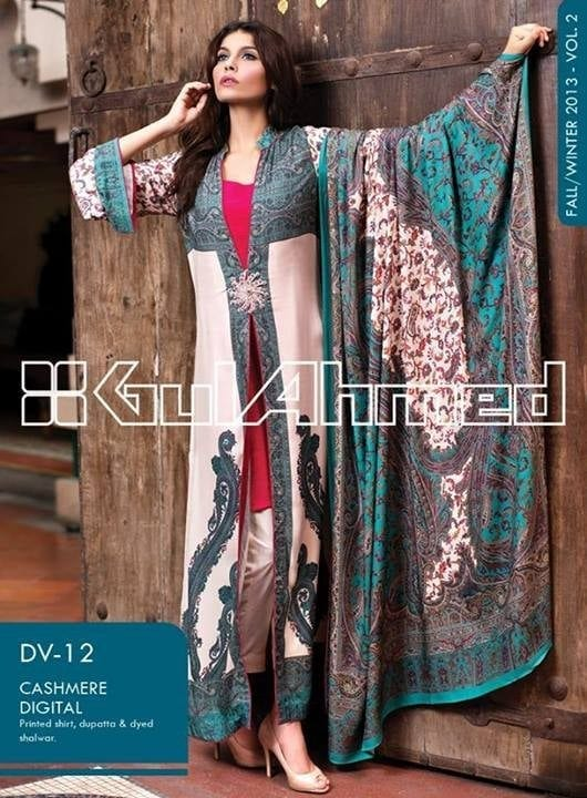 Gul-Ahmed-Winter-Collection-2013-2014-Volume-2-for-Women-6 Top 10 Pakistani Clothing Brands for Women 2017