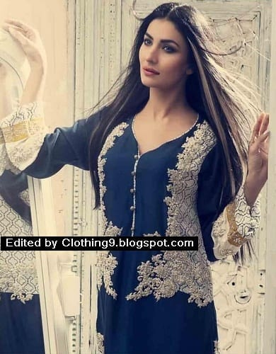 HSY-Designer-Clothes-Pret-Winter-Collection-2015-16-Clothing9-1 Top 10 Pakistani Clothing Brands for Women 2017
