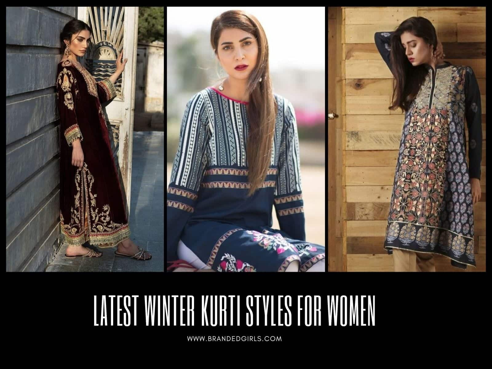 Latest-Kurti-Styles-for-Women Winter Kurtis Designs – 18 Latest Kurti Styles for Women