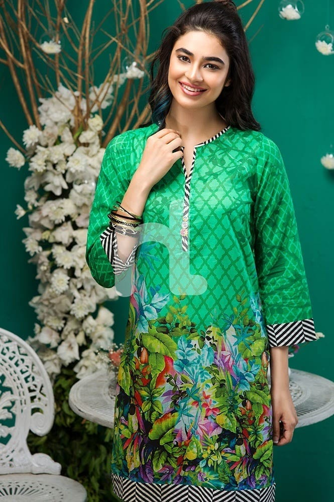 Linen-Simple-Neck Winter Kurtis Designs – 18 Latest Kurti Styles for Women