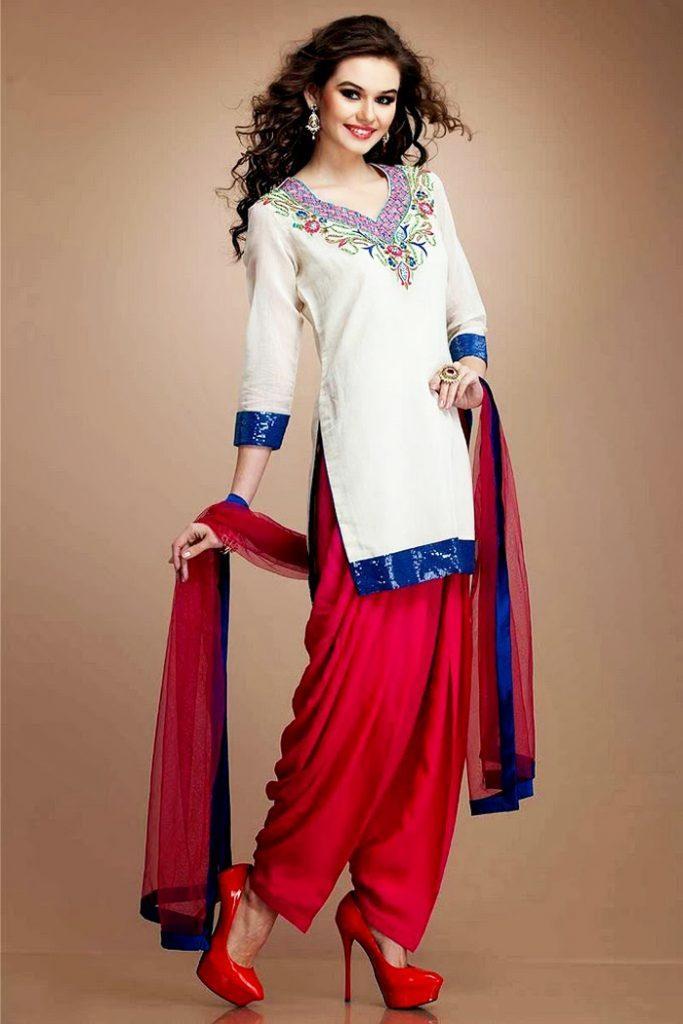 Punjabi-Patiala-Salwar-Kameez-Suits-08-683x1024 Latest Shalwar Kameez Designs for Girls-15 New Styles to try