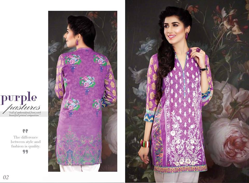 SNM-Khaddar-Kurti-Dresses Winter Kurtis Designs – 18 Latest Kurti Styles for Women