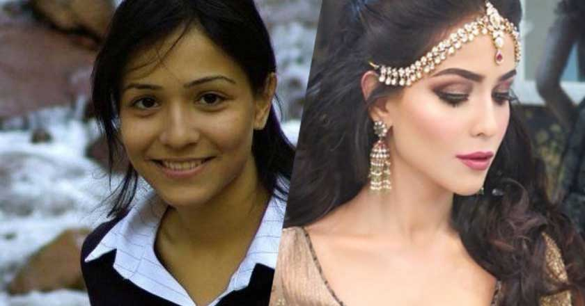 pakistani-actress-humaima-malik-with-and-without-makeup Pakistani Actresses without Makeup-Shocking Photos of Actresses with No Makeup