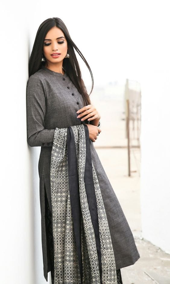 winter-kurti-style Winter Kurtis Designs – 18 Latest Kurti Styles for Women