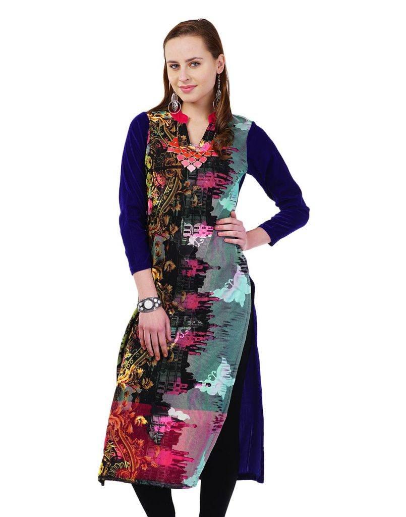wool1-805x1024 Winter Kurtis Designs – 18 Latest Kurti Styles for Women