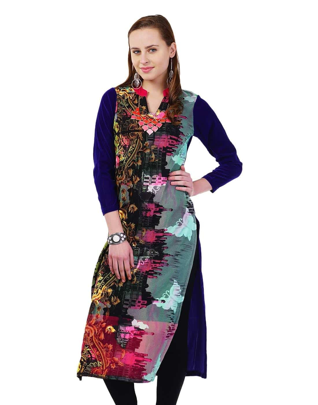 Woolen stylish kurti forecast dress for spring in 2019