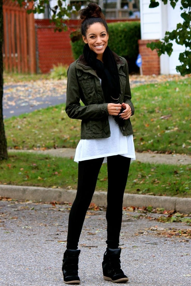 Best-Legging-Combos-for-Work Work Outfits for African Women-25 Professional Attires