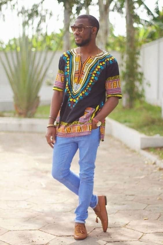Dashiki-Style-Ankara-Tops Ankara Styles for Guys - 18 Best Ankara Outfits for Men 2018