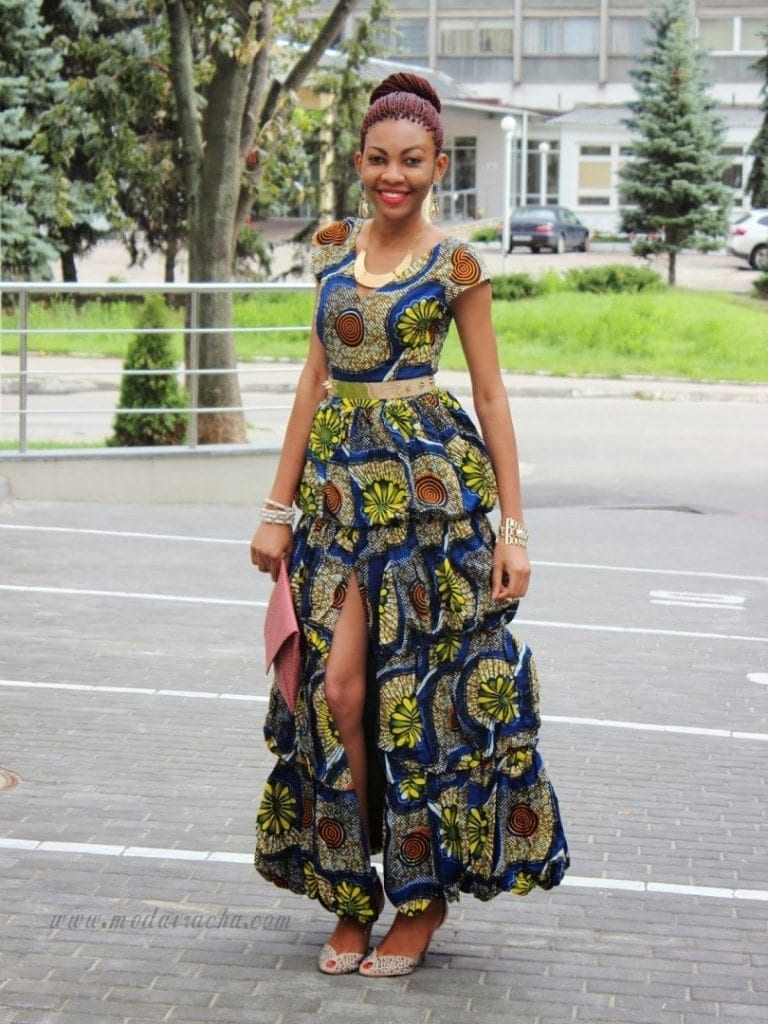 Frilly-Ankaras Ankara Styles for Wedding-17 Cool Ankara Dresses for Wedding 2019
