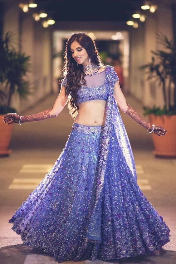 Indian-style 2017 Ghagracholi Designs-20 Latest Lehngacholi Styles These Days