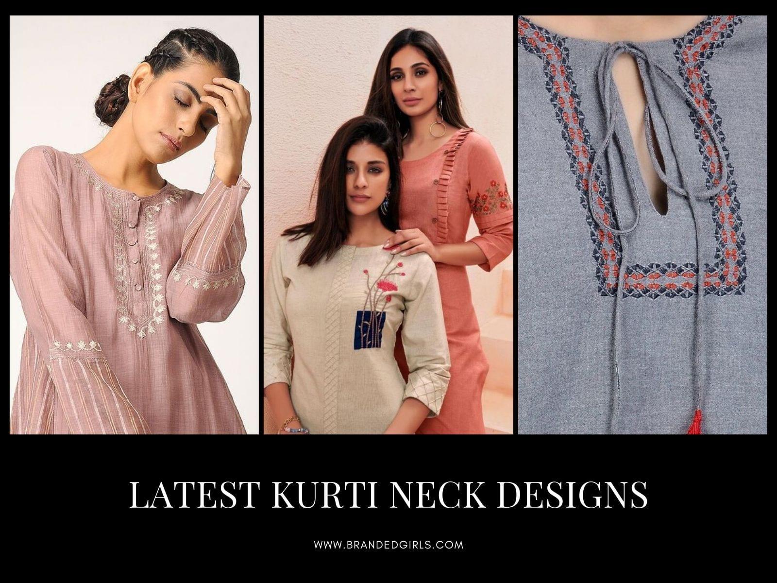 Kurti Neck Designs23 Latest Neck Styles for Kurtis In 2021
