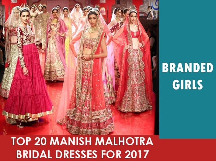 MM-bridal-dresses17 Manish Malhotra Wedding Dresses 2017-Top 20 Bridal Dress by Manish Malhotra