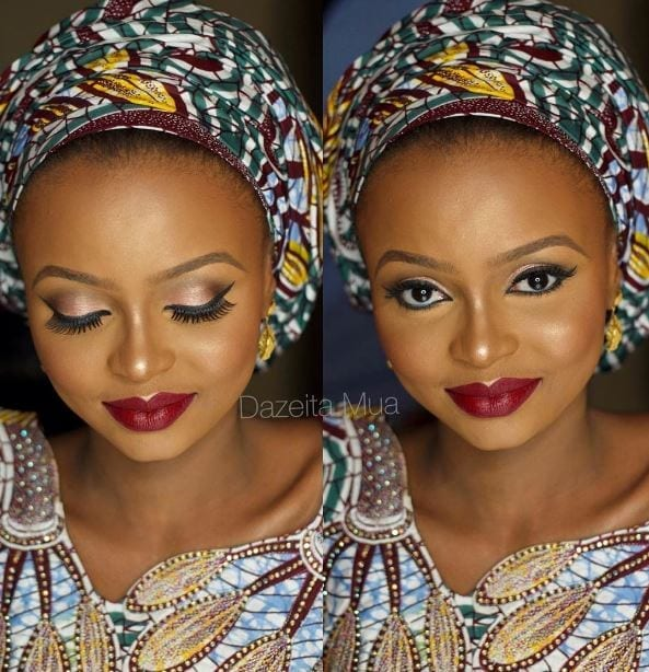 Makeup-Tips-for-Ankara-Loving-Brides-1 Ankara Styles for Wedding-17 Cool Ankara Dresses for Wedding 2019