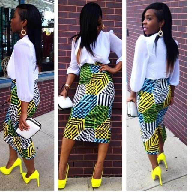 Modern-Aso-Ebi-Styles-for-Work Work Outfits for African Women-25 Professional Attires