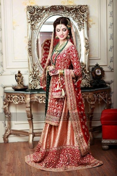 Red-Bridal-Lehengas 2017 Ghagracholi Designs-20 Latest Lehngacholi Styles These Days