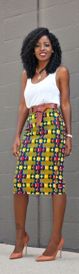 Skirts-as-Office-Wear Work Outfits for African Women-25 Professional Attires