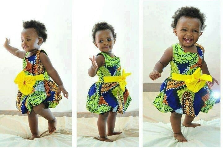 african-frock-with-belt African Dress Styles for Kids-19 Cute African Attire for Babies