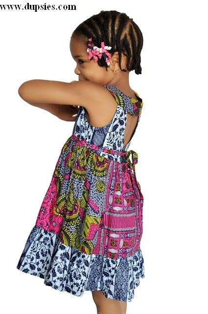 african-printed-dress African Dress Styles for Kids-19 Cute African Attire for Babies