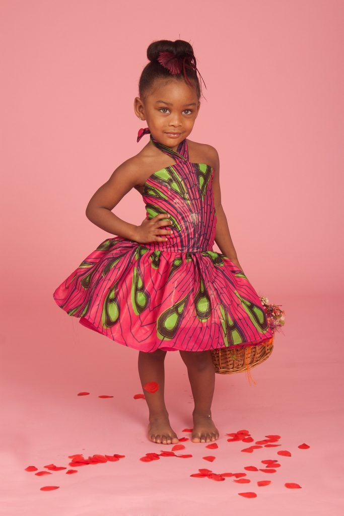 ankara-silk-frock-683x1024 African Dress Styles for Kids-19 Cute African Attire for Babies