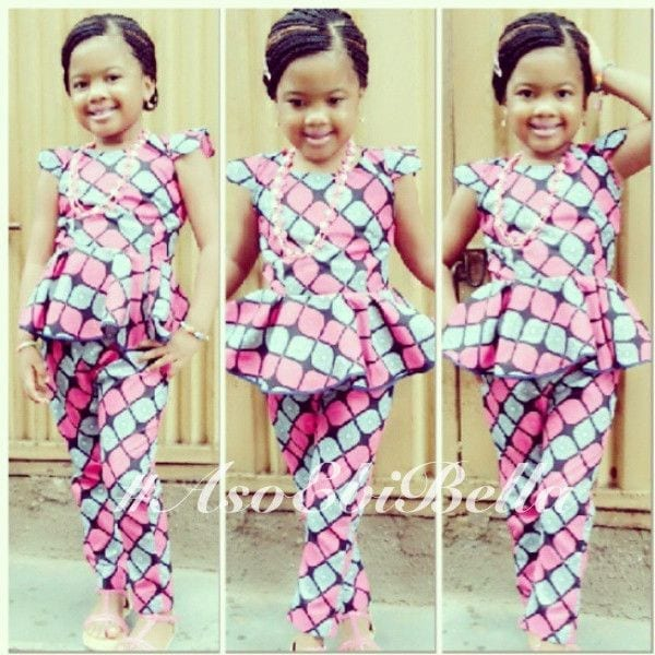 cute-ankara-suit-for-girls African Dress Styles for Kids-19 Cute African Attire for Babies