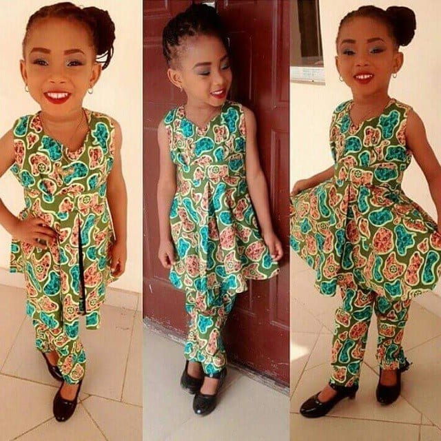 frock-and-pants-suit-for-kids African Dress Styles for Kids-19 Cute African Attire for Babies
