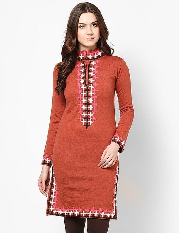 high-neck-designs Kurti Neck Designs–23 Latest Kurti neck styles 2019
