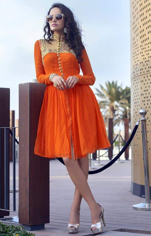 illusion-neckline-kutis Kurti Neck Designs–23 Latest Kurti neck styles 2019