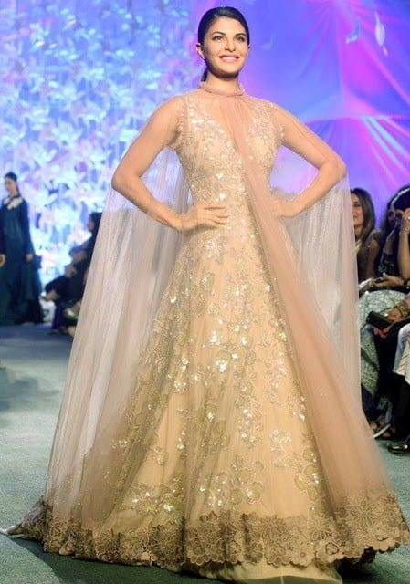 jaqueline-in-Manish-malhotra-lfw Manish Malhotra Wedding Dresses 2017-Top 20 Bridal Dress by Manish Malhotra