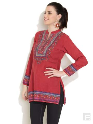 mandarin-collar-kurti Kurti Neck Designs–23 Latest Kurti neck styles 2019