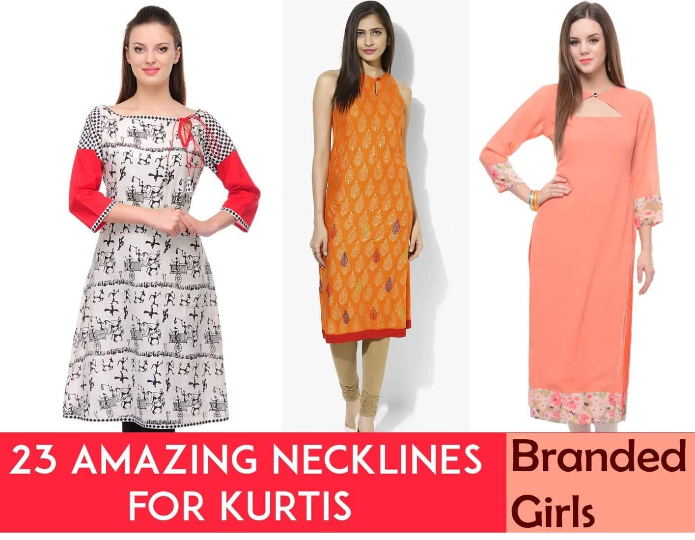 necklines-for-Kurtis-this-year Kurti Neck Designs–23 Latest Kurti neck styles 2019