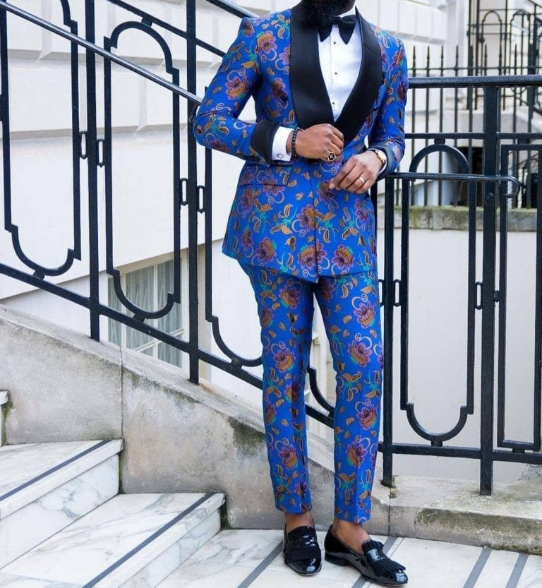 Ankara-blazer-7-768x833 Ankara Styles for Guys - 22 Best Ankara Outfits for Men 2019