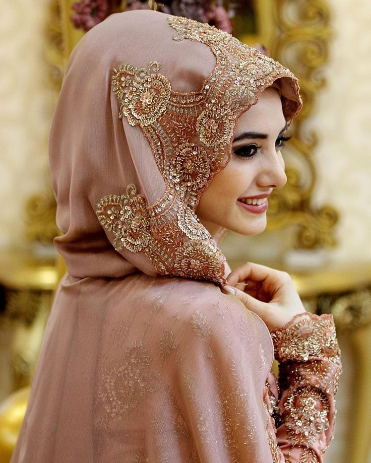 Hijab-Style-for-Brides Hijab Without Cap-Tutorials on How to Wear Hijab Without Undercap