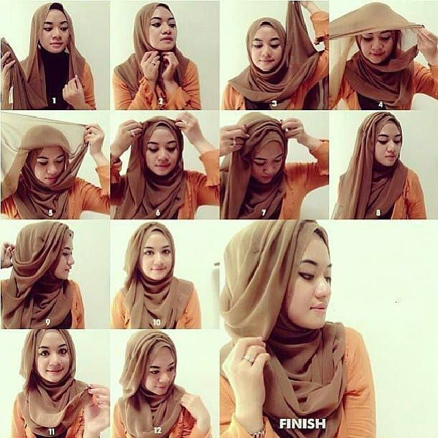 How-to-tie-hijab-properly Hijab Without Cap-Tutorials on How to Wear Hijab Without Undercap