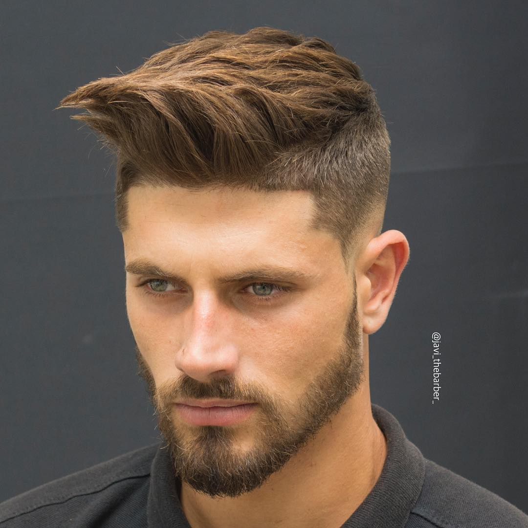 Mid-Faded-with-Beard Hairstyles for College Guys-25 New Hair Looks to Copy in 2019