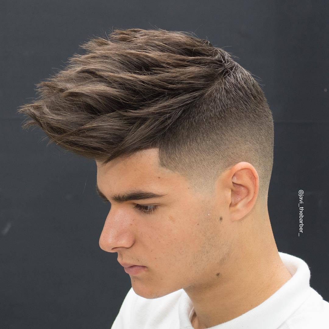 Spiky-Cut-for-Thick-Hair Hairstyles for College Guys-25 New Hair Looks to Copy in 2019