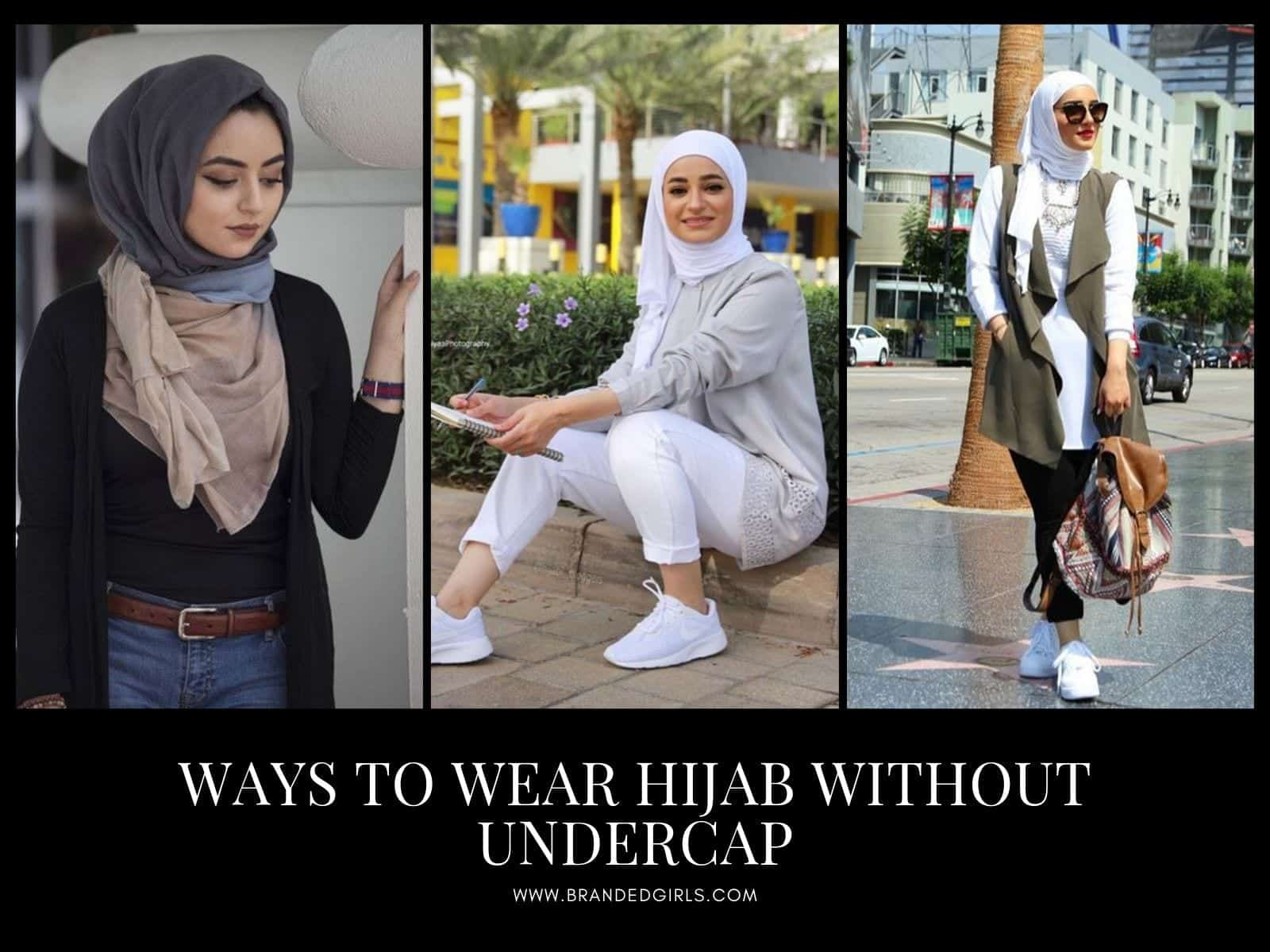 Wear-Hijab-Without-Undercap Hijab Without Cap-Tutorials on How to Wear Hijab Without Undercap