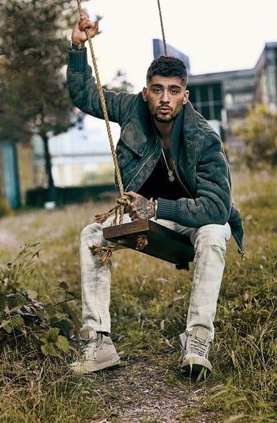 Zayn-Malik-Wearing-Boots Zayn Malik Outfits-19 Best Outfits Worn by Zayn Malik All Time